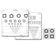 LEA Symbols® Foldable Eye chart (Massachusetts format) 3 m